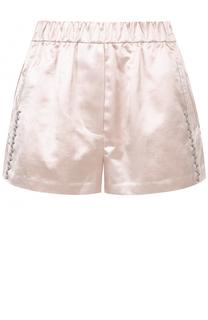 Хлопковые мини-шорты с эластичным поясом и декоративной отделкой 3.1 Phillip Lim