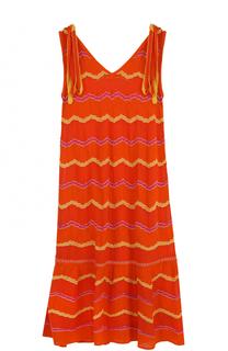 Вязаное платье свободного кроя с V-образным вырезом M Missoni