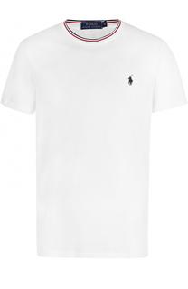 Хлопковая футболка с контрастной отделкой Polo Ralph Lauren