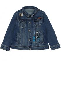 Куртка из денима с нашивками Dolce & Gabbana