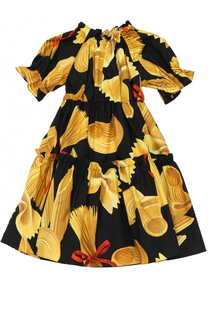Платье из хлопка с принтом Dolce & Gabbana