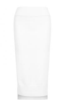 Вязаная юбка-карандаш с разрезами DKNY