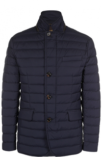 Утепленная стеганая куртка на пуговицах Moorer