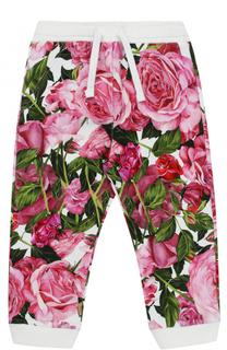 Спортивные брюки с манжетами и принтом Dolce & Gabbana