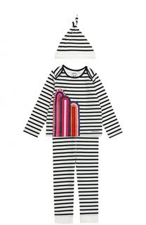 Пижама в комплекте с шапкой Burberry