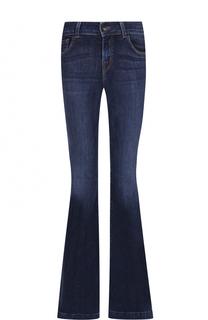 Расклешенные джинсы с потертостями J Brand