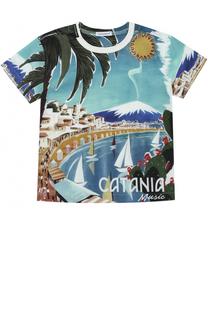 Футболка джерси с принтом Dolce & Gabbana