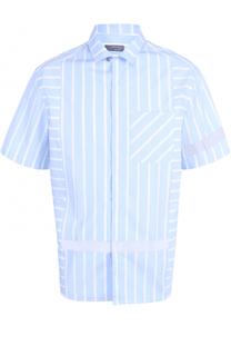 Хлопковая рубашка свободного кроя с короткими рукавами Lanvin