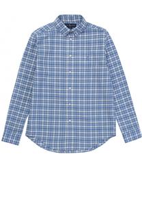 Рубашка из смеси хлопка и льна Polo Ralph Lauren