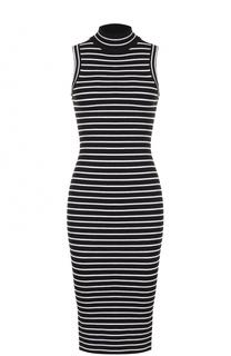 Вязаное платье-футляр с воротником-стойкой MICHAEL Michael Kors