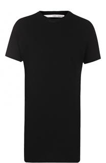 Удлиненная хлопковая футболка с круглым вырезом Isabel Benenato