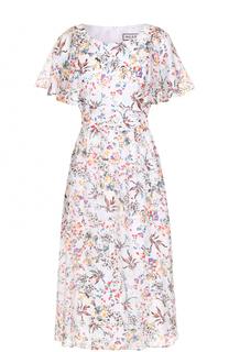 Шелковое приталенное платье с цветочным принтом Paul&Joe Paul&Joe