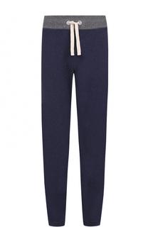 Хлопковые брюки прямого кроя с поясом на резинке Parajumpers