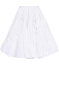 Пышная многоярусная юбка-миди Alaia