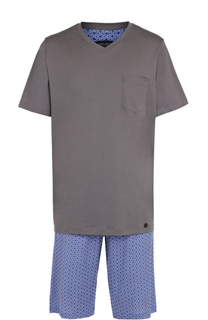 Хлопковая пижама с шортами Hanro