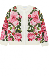 Кардиган из шелка с принтом Dolce & Gabbana
