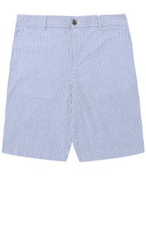 Шорты из хлопка с принтом и контрастными пуговицами Polo Ralph Lauren
