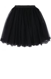 Многоярусная пышная юбка с кружевной отделкой Dolce & Gabbana