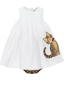 Комплект из платья с аппликацией и трусов Dolce & Gabbana