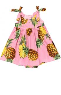 Комплект из платья с принтом и трусов Dolce & Gabbana