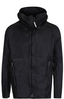 Кожаная куртка на молнии с капюшоном Isaac Sellam