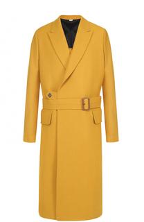 Шерстяное однобортное пальто с поясом Stella McCartney