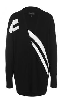Удлиненный пуловер со спущенным рукавом и контрастной отделкой Rag&Bone Rag&Bone