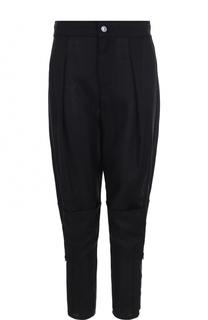 Укороченные брюки с защипами и декоративными молниями Tom Ford