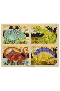 Пазл Динозавры, 4 в 1 Melissa & Doug