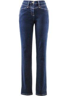 Комфортные джинсы стретч, высокий рост (L) (темно-синий «потертый») Bonprix