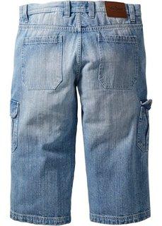 Джинсы длиной 3/4 классического прямого покроя regular fit (голубой) Bonprix