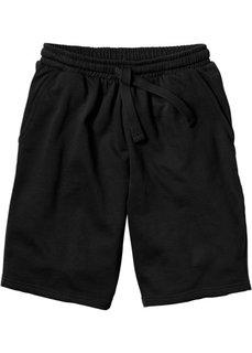 Трикотажные шорты стандартного покроя (черный) Bonprix