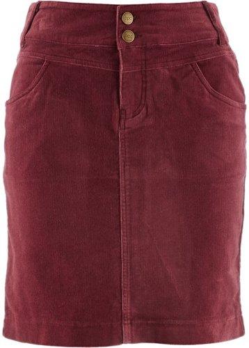 Вельветовая юбка (бордовый)