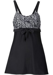 Утягивающее купальное платье (черный) Bonprix