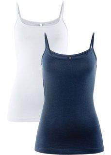 Топ (2 штуки в упаковке) (темно-синий/белый) Bonprix