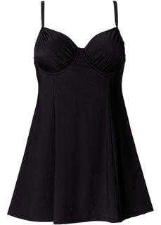 Купальник-платье, моделирующий фигуру, чашка C (черный) Bonprix