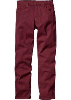 Брюки-стретч Slim Fit Straight, низкий + высокий рост U + S (бордовый) Bonprix