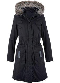 Модная длинная куртка-парка (черный) Bonprix