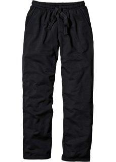 Трикотажные брюки стандартного покроя (черный) Bonprix