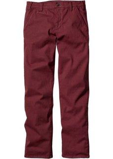 Классические брюки-стретч, низкий + высокий рост (U + S) (бордовый) Bonprix