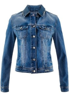 Джинсовая куртка от Maite Kelly (синий «потертый») Bonprix