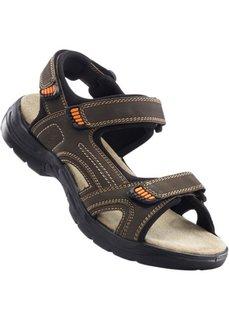 Кожаные сандалии (коричневый) Bonprix