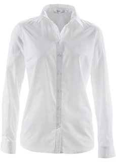 Блуза-рубашка с длинными рукавами (белый) Bonprix