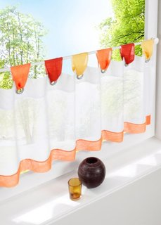 Кухонная штора Ольга, петли (оранжевый) Bonprix
