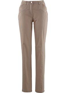 Комфортные брюки стретч, cредний рост (N) (серо-коричневый) Bonprix