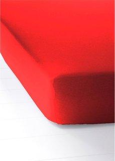 Простыня-чехол Джерси (красный) Bonprix
