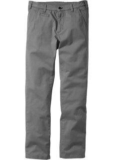 Классические брюки-стретч, низкий + высокий рост (U + S) (серый) Bonprix