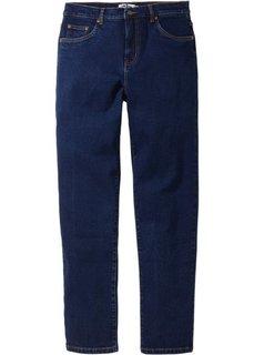 Зауженные снизу джинсы стретч, низкий рост U (темно-синий) Bonprix