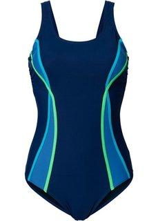 Утягивающий купальный костюм (темно-синий) Bonprix
