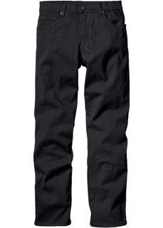 Брюки-стретч Slim Fit Straight, низкий + высокий рост U + S (черный) Bonprix